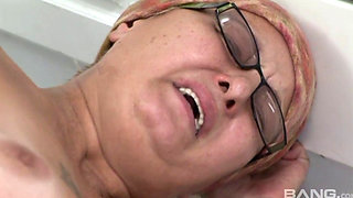 German granny sucking cock and getting fucked