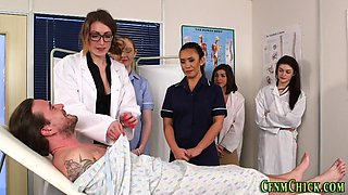 Cfnm nurse sucks big dick