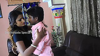 Telugu Aunty Swathi Romance With Old Boy Friend(1)