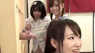 Best Japanese whore Mikan Kururugi, Riri Kouda in Incredible Glory Hole JAV scene