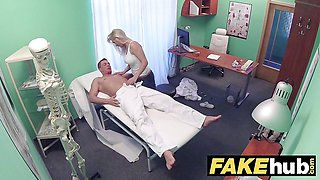 Fake Hospital Big tits Milf chiropractor banging the doctor