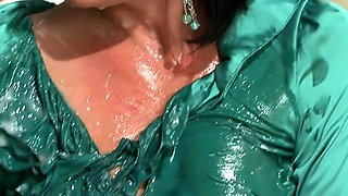 Large milk cans and ass get slimed