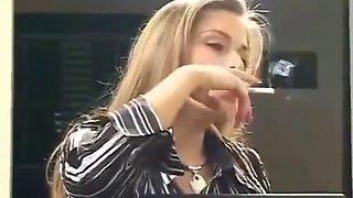 Blonde smoking 10