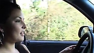 Handjob and masturbating in the car