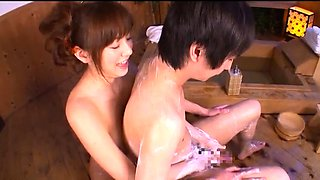 Stacked Japanese housewife knows how to treat a cock