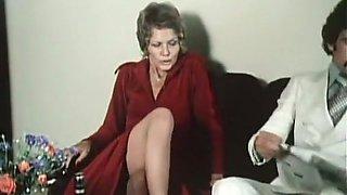 Cute and slender blonde classic milf having sex on the floor