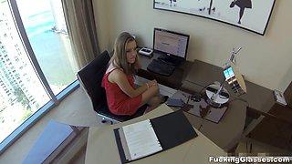 Fucking Glasses - Lia Ezra - Lunch break secretary fuck