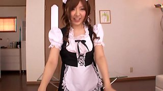 Crazy Japanese model in Best Blowjob, Maid JAV clip