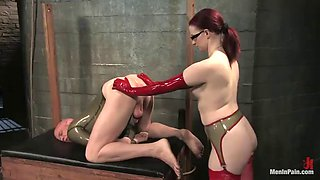 extreme bondage and domination before ass fingering and pegging