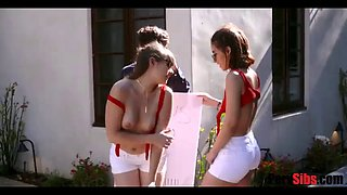 Christian brother resists his two hot sisters! omg