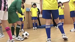 Japanese college girl football training part 1 !