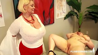 samantha 38g & nikky wilder is a bbw fucking in a threesome