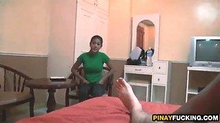 Shy filipina girls april and may pleasing his dick