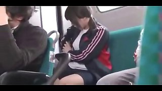 cute busty schoolgirl fucked on bus