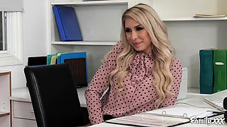 Natural Tits Carmen Caliente Gets Fucked In The Office By