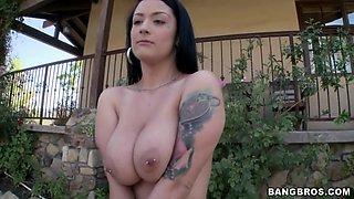 katrina jade showing off her huge natural pierced tits