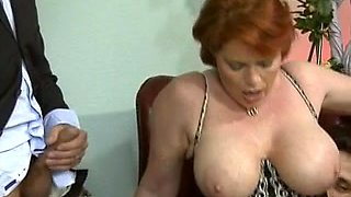 Classic porn showing a hot threesome