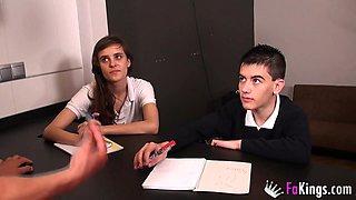 Jordi enp and Ainara's best school day!!!