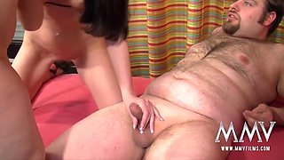 Busty German Teen Helps Amateur Couple