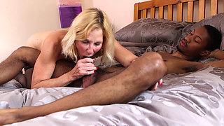 Molly Maracas enjoys a big black cock