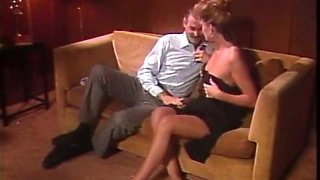 Incredible redhead Swedish milf receives cunnilingus on the couch