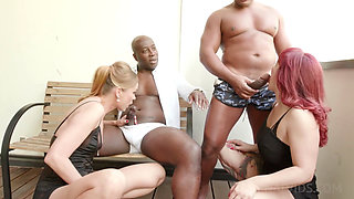 Two Busty European MILF Nika and Mary Assfucked and D Ped by Two B B C
