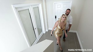 Juggy and bootyful milf Nina Kayy gets her boobs fucked and jizzed