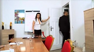 German sexy secretary can't say no to fucking in the office