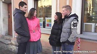 two russian girls, foxi di and ananta shakti, swap boyfriends