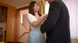 Incredible Japanese chick Momoka Nishina in Hottest Blowjob, Kitchen JAV clip