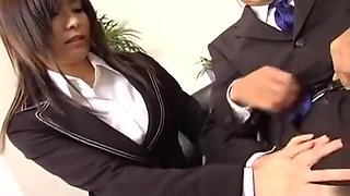 Secretary satisfies her boss