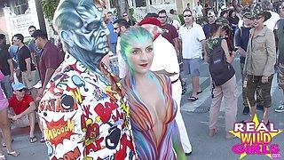 Street Flashing Babes Fantasy Fest Day