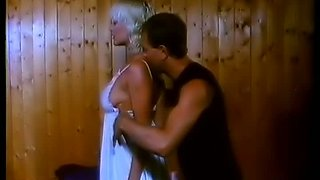 Tanned busty blonde Marilyn finds it super pleasant to fuck doggy style