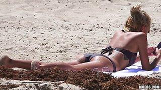 Hardcore in his beachfront condo after a day in a bikini