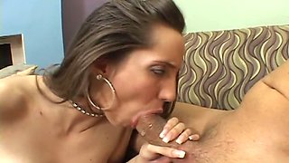 Busty pierced bitch sucked sloppy penis after hard reverse cowgirl pose fuck
