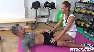 morgan rodriguez in gym girl pov blowjob and creampie