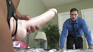 Brunette swap fucking her man