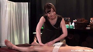 Sensual back massage leads to crazy fucking on the table. HD