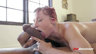 Interracial sex with a monster cock for the sexy Alyssa Branch