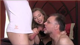 cuckold - take up with the tongue it all up