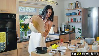 Slutty chef Jasmine Jae's banging on the kitchen table