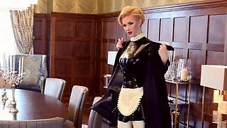 Blonde Latex Maid