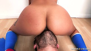 Big ass yoga teacher has hot anal sex with a big cock student
