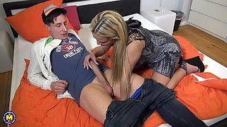 german busty milf seduces dude