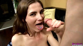 Molly Jane fucking and swallowing cum