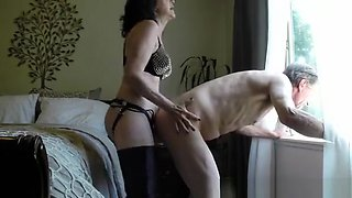 Wife Fucks Husband Ass By The Window