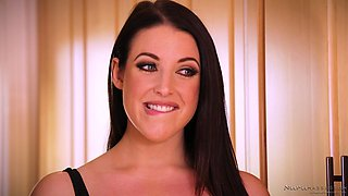 Cute babe Penny Pax cannot resist Angela White's great tits