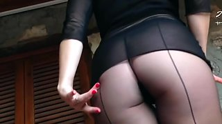 german mistress anett larmann in pantyhose solo