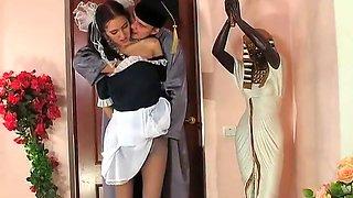 Russian schoolgirl in pantyhose