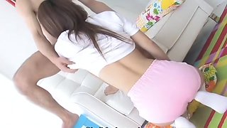 Ami in school clothes swallows piles of cum!